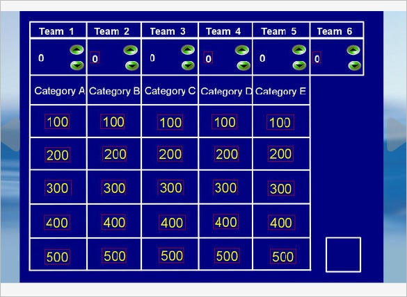 Jeopardy Template 36 Free Word Excel Ppt Pdf Format Download