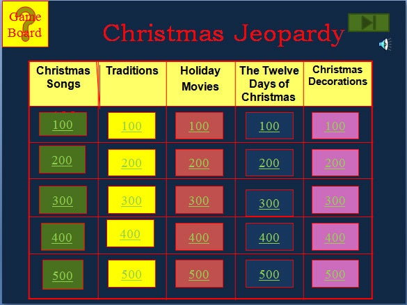 free download christmas jeopardy template ppt format