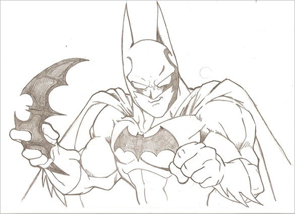 mind blowing drawing of batman