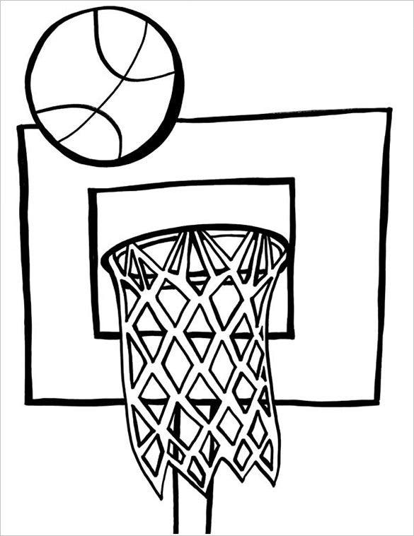 kid playing basketball coloring pages - photo#31