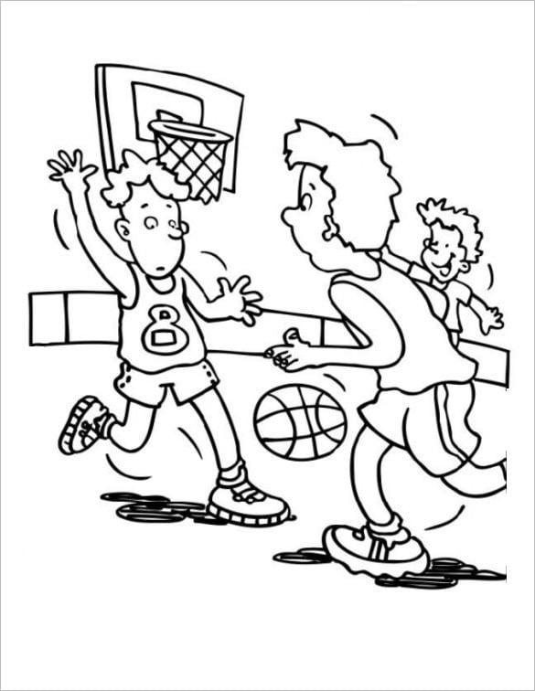 basketball print page