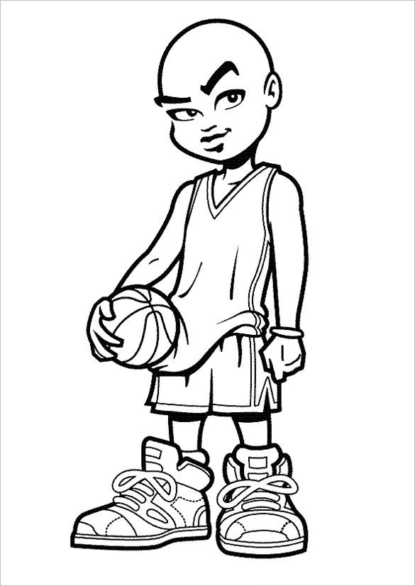basketball streen style coloring page