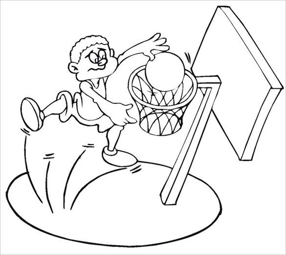 19 Basketball Coloring Pages PDF JPEG PNG Free