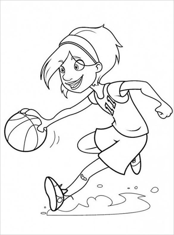 19 Basketball Coloring Pages Pdf Jpeg Png Free Premium