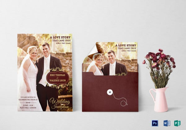 attractive wedding invitation flyer design
