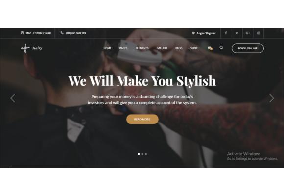 barbershop hair salon html template