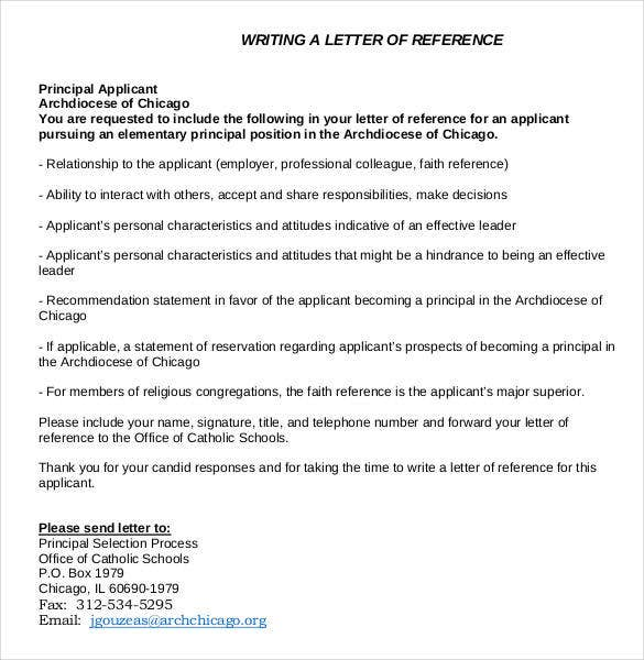 Basic Writing A Reference Letter Examples  Basic Reference Letter