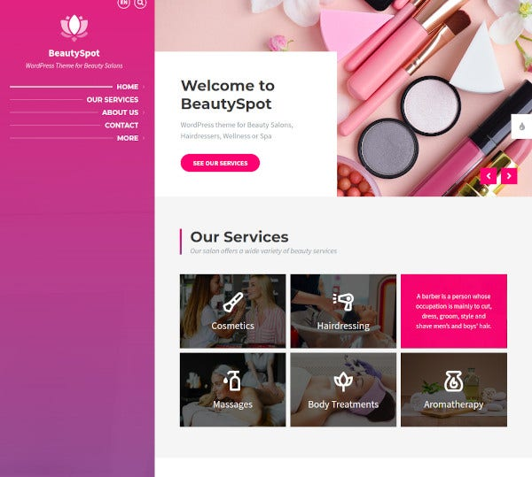 beautyspot theme for beauty salons