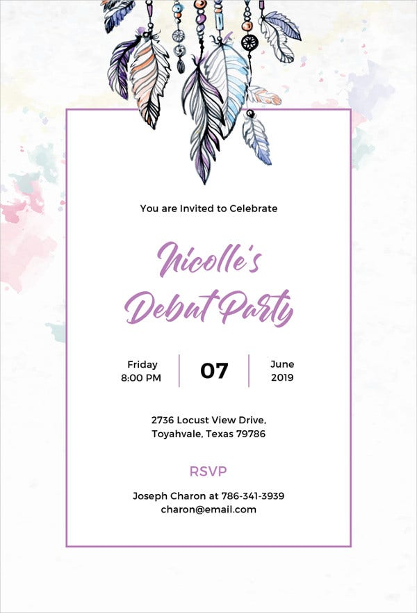 boho-debut-invitation-template