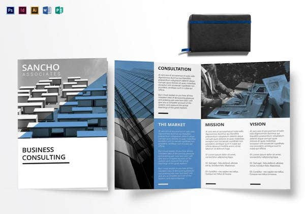 Charming Business Consulting Bi Fold Brochure Template In Word