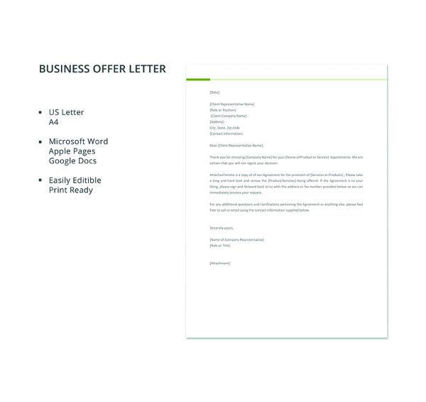 50 business letter templates pdf doc free premium templates business offer letter template friedricerecipe Gallery