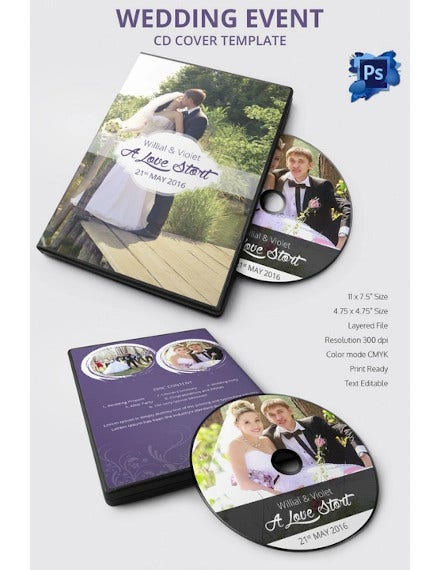 cool wedding cd cover design