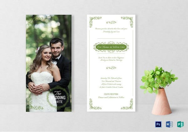 creative photo wedding invitation card template