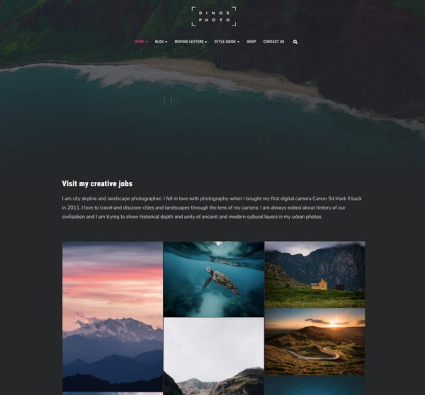 creative portfolio joomla template