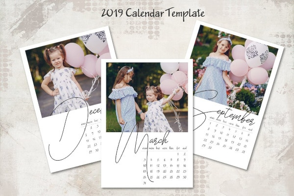 cute printable birthday calendar template download