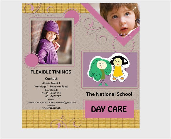 day care brochure template download