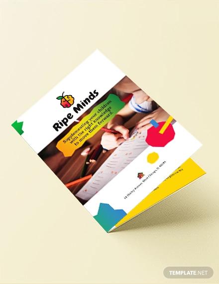 daycare bi fold brochure template