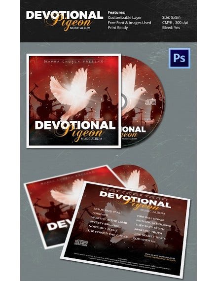 devotional pigeon church cd designs