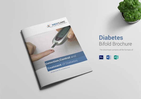 diabetes bi fold brochure template download