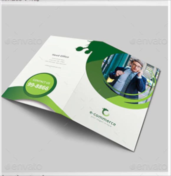 e commerce business bi fold brochure