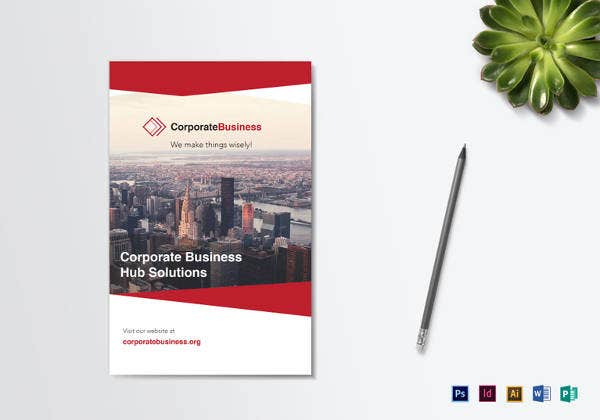 editable business corporate bi fold brochure