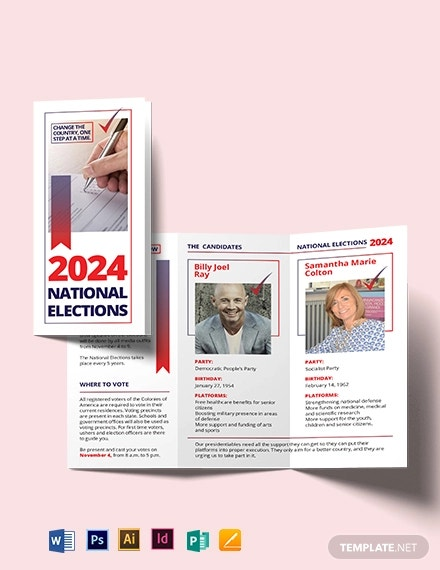 election tri fold brochure template