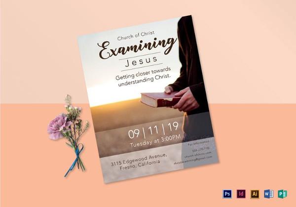 examining jesus flyer template