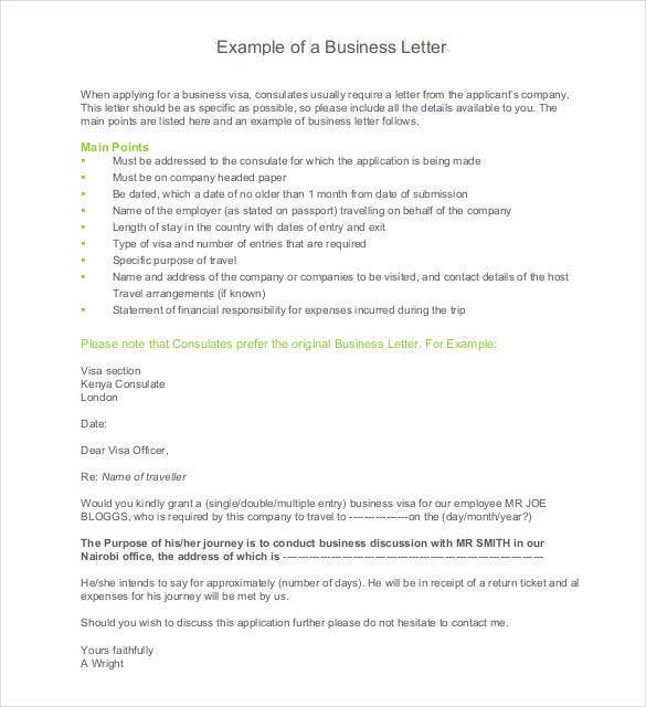 example of a business letter pdf free download