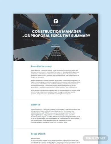 executive summary proposal template