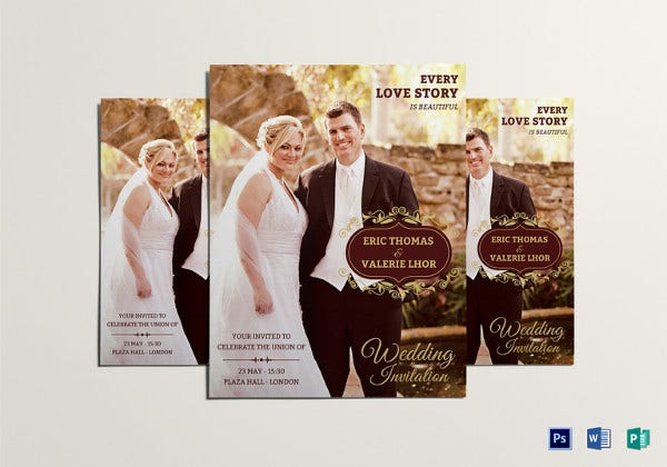 eye catching wedding flyer template