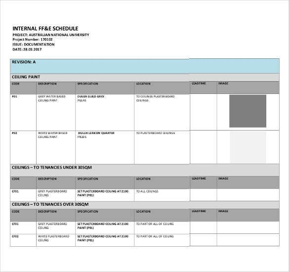 ffe-schedule-template