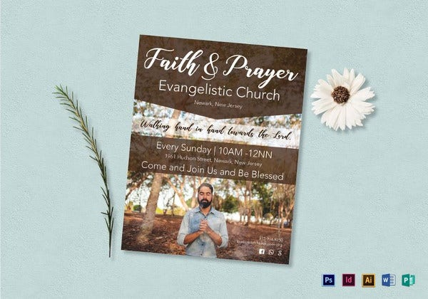 faith and prayer flyer template