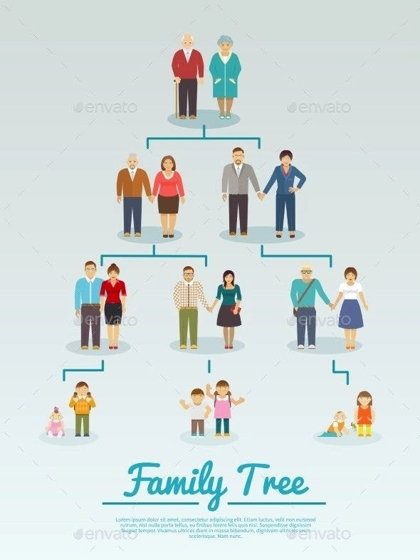 family tree flat template