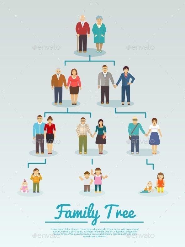 Family Tree Flat Template