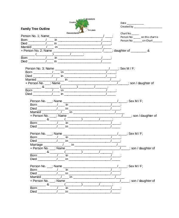 family tree outline1