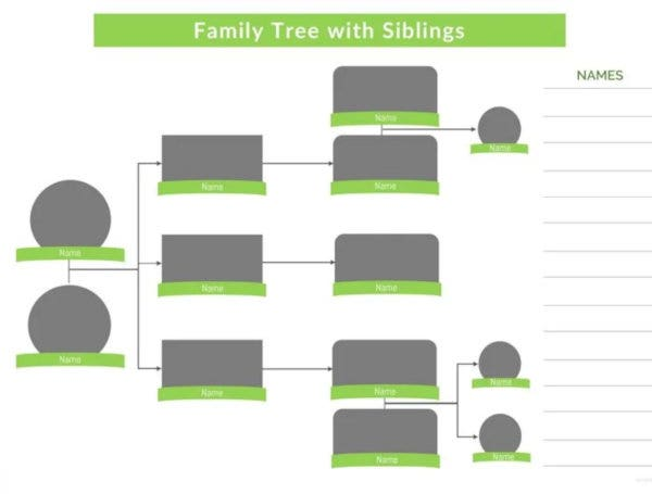 family tree template with siblings2
