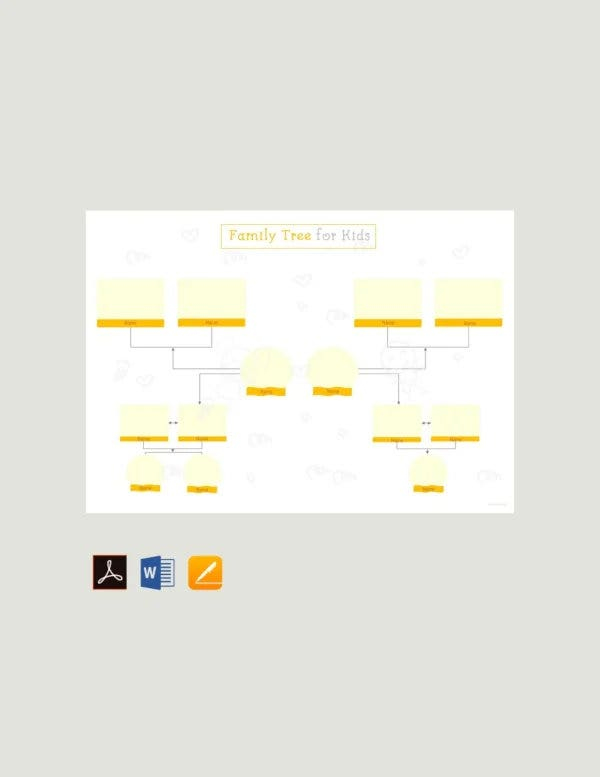 family tree template for kids2
