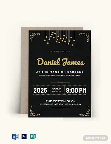 farewell invitation card template1