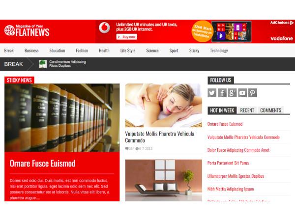 flatnews magazine joomla template1