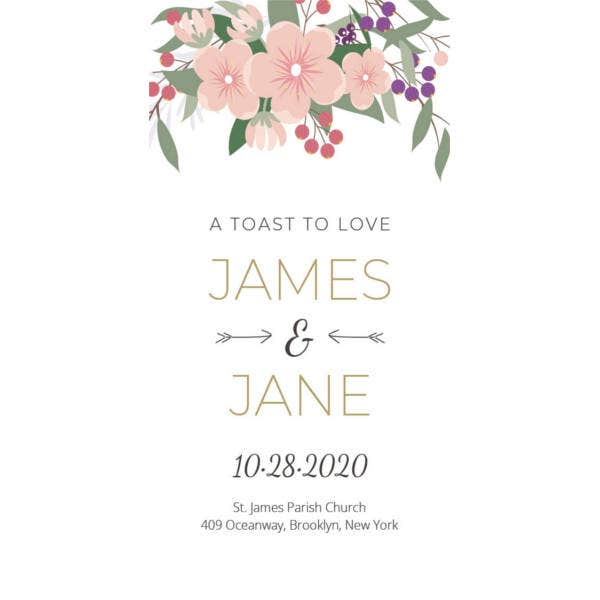 floral wedding tag template1