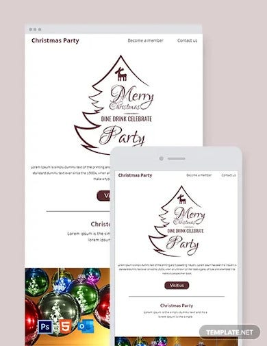 free christmas party email newsletter template