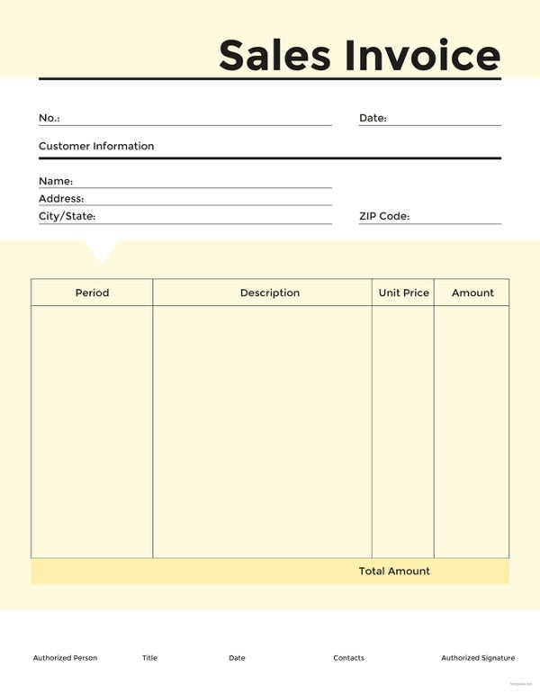free commercial sales invoice template