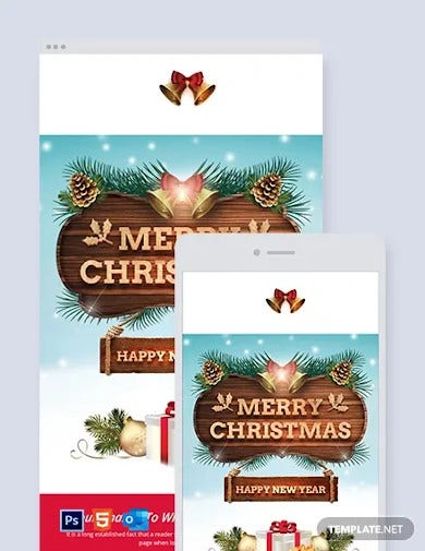 51 Christmas Email Newsletter Templates Free Psd Eps Ai Html Format Download Free Premium Templates