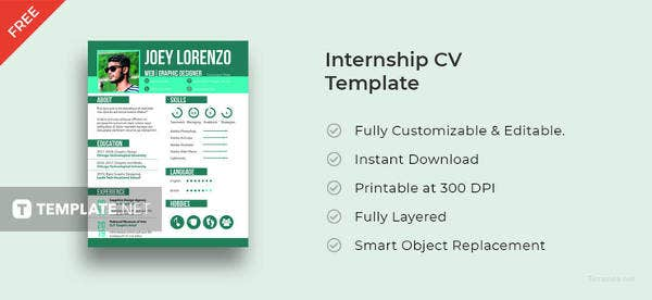 free-internship-cv-template