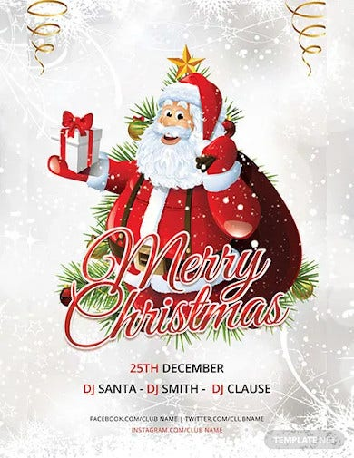 free merry christmas poster template