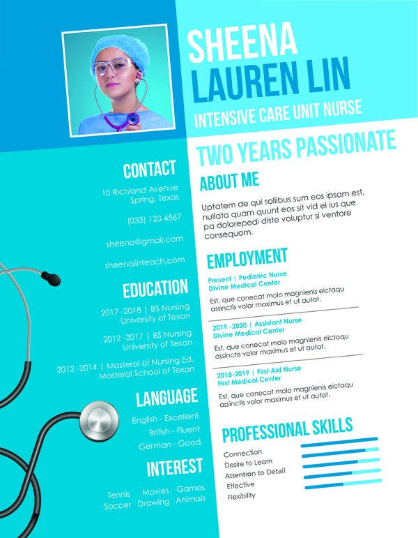 nursing student resume example