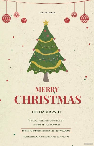 free simple christmas poster template
