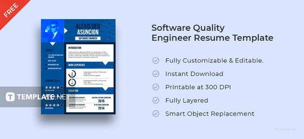 free-software-quality-engineer-cv-template