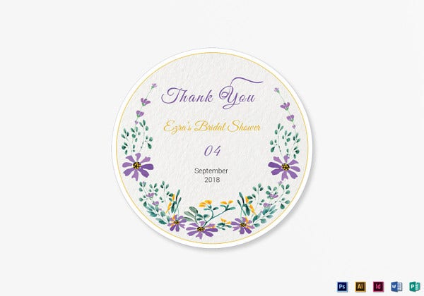 garden wedding label template