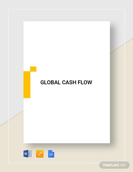 global cash flow analysis template